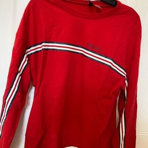 Tops - red long sleeve with stripe
